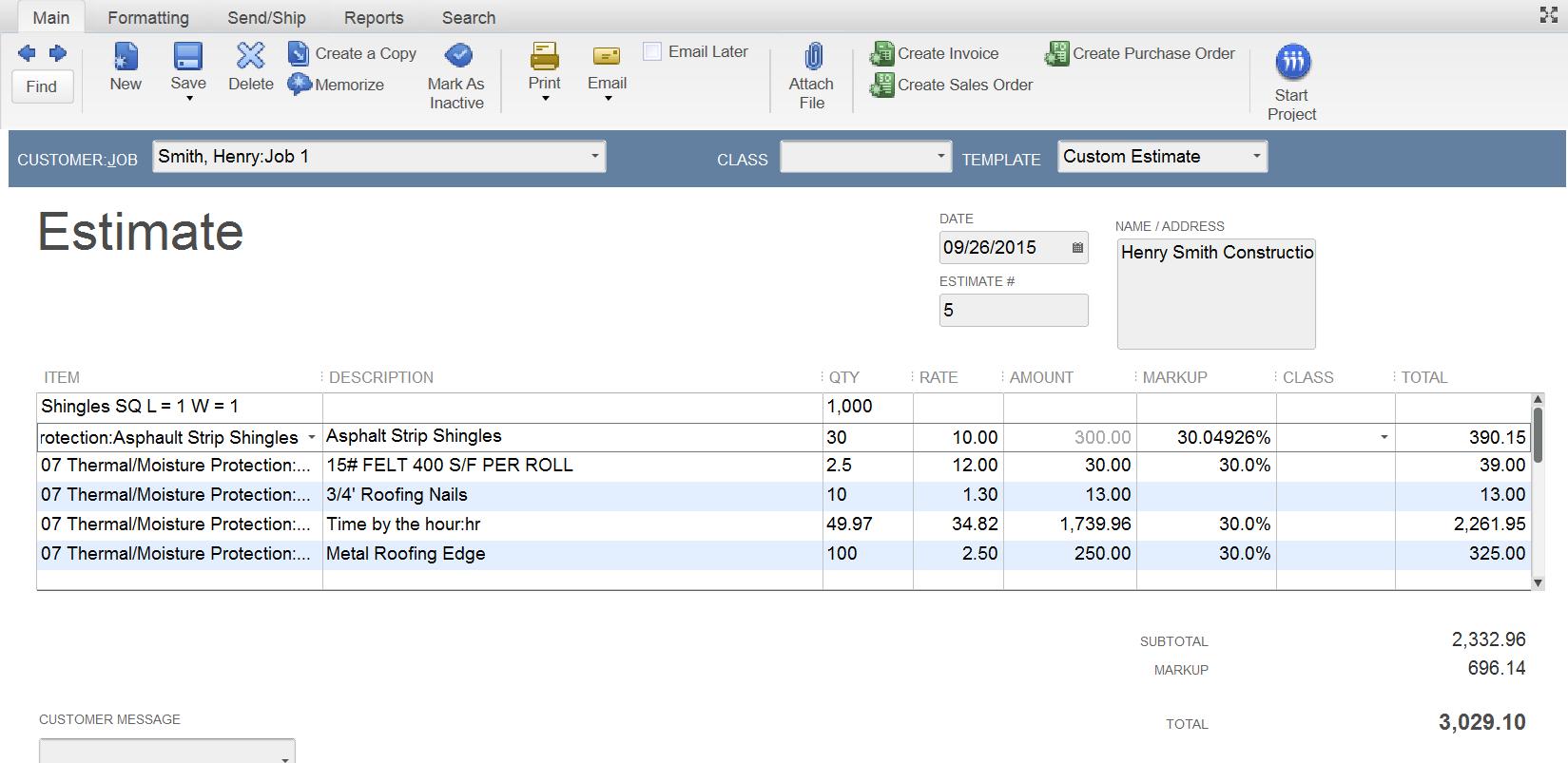 Intuit QuickBooks Enterprise Soltuions for Contractors